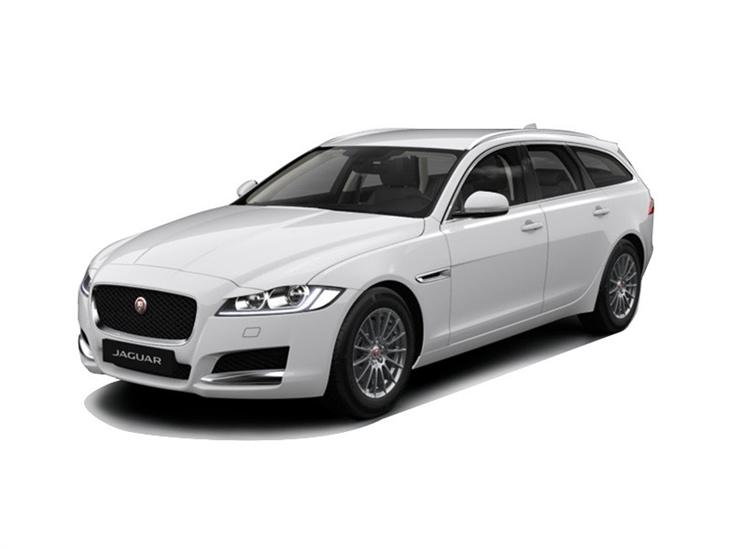 white jaguar xf sportbrake prestige on white background to lease