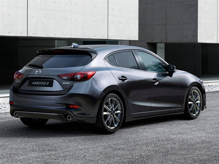 Mazda 3 Hatchback Grey Back Exterior