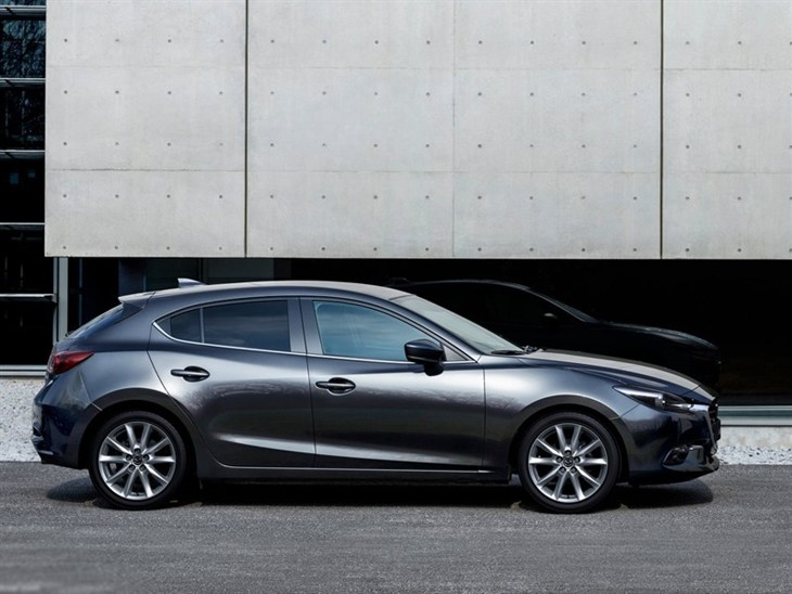 Mazda 3 Hatchback Grey Side Exterior