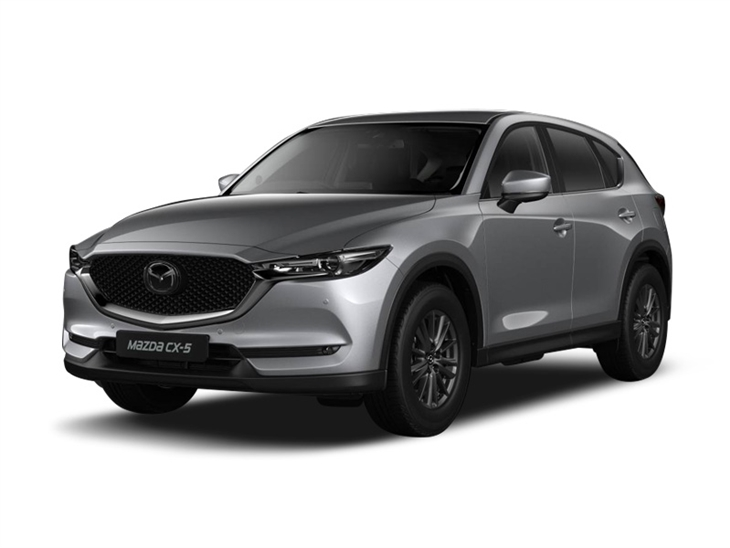silver mazda cx-5 se l nav car on white background available to lease