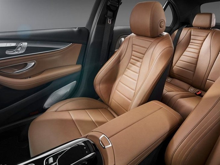 A Front seat of the Mercedes Benz E Class Saloon
