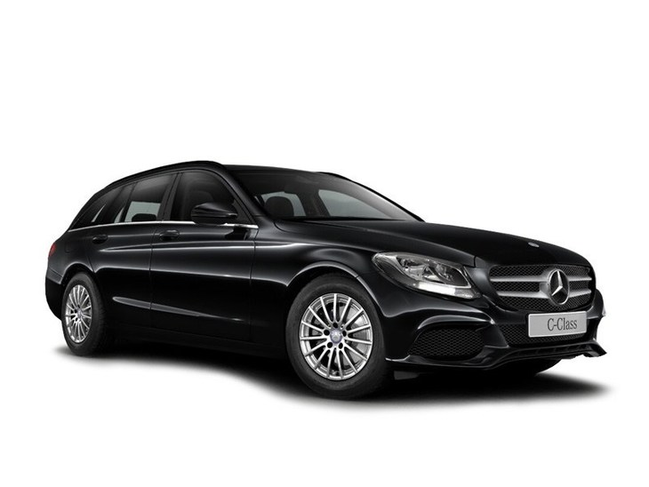 Mercedes Benz C Class Estate black Front