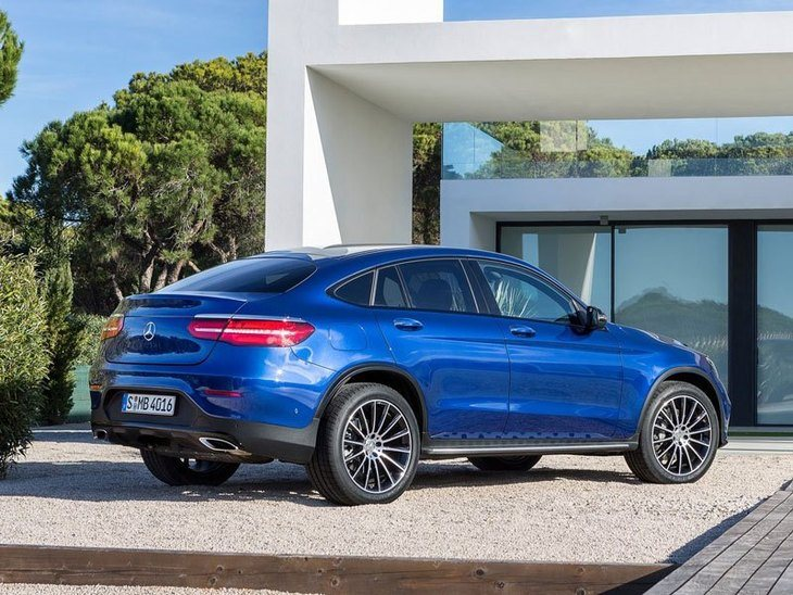 Mercedes GLC Coupe Blue Exterior Back 2