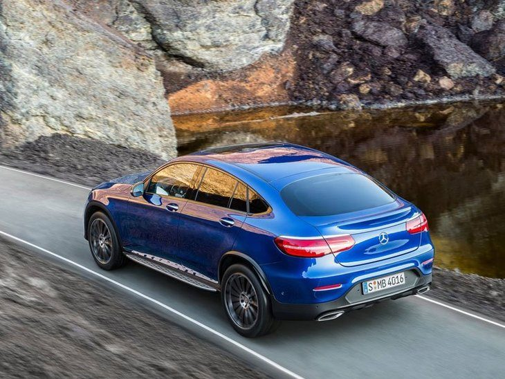 Mercedes GLC Coupe Blue Exterior Back