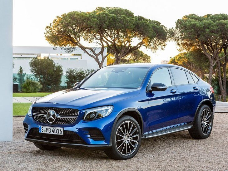 Mercedes GLC Coupe Blue Exterior Front 2