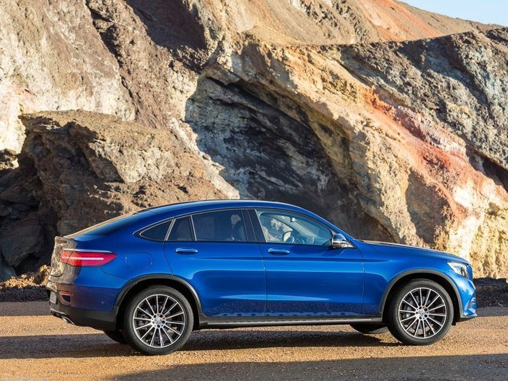 Mercedes GLC Coupe Blue Exterior Side