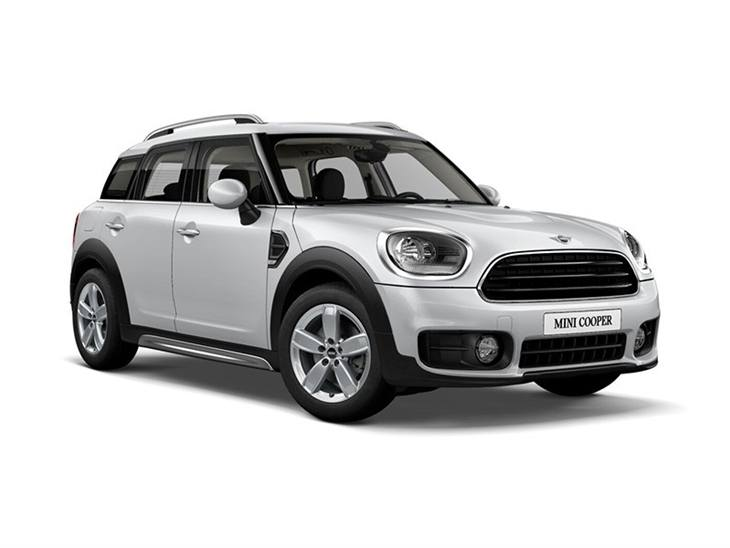 white mini countryman cooper classic car lease on white background