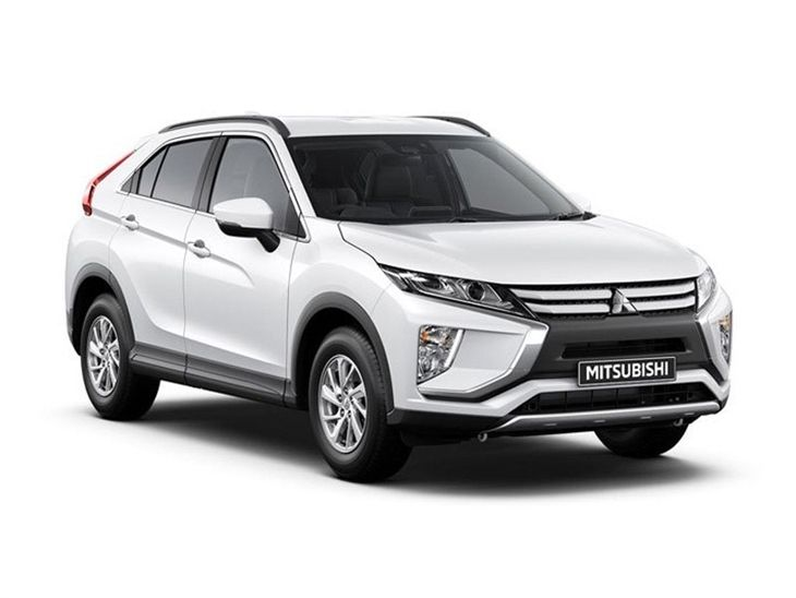 white mitsubishi eclipse cross car lease on white background