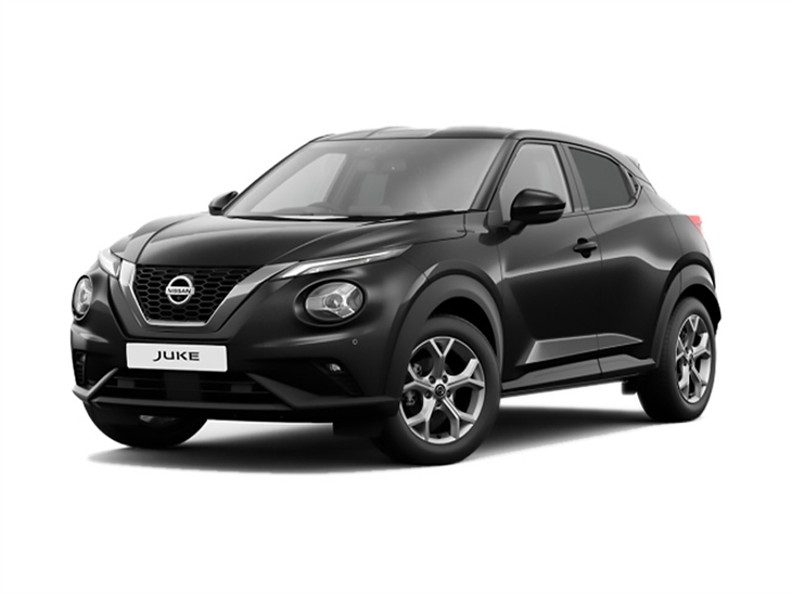 Nissan Juke 2019 N-Connecta In Black Front Left View