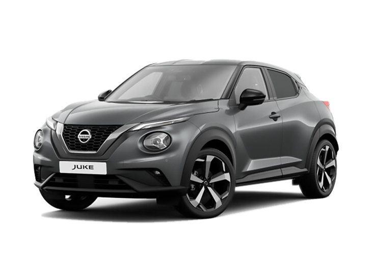 Nissan Juke 2019 Tekna in Silver front Left View
