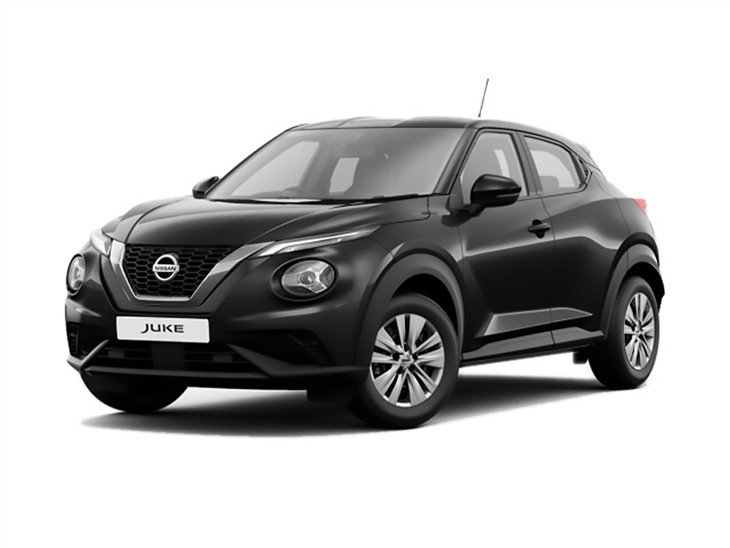 Nissan Juke 2019 Visia in Black Front Left View