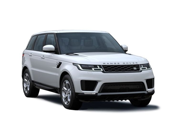 white land rover range rover sport hse car lease on white background