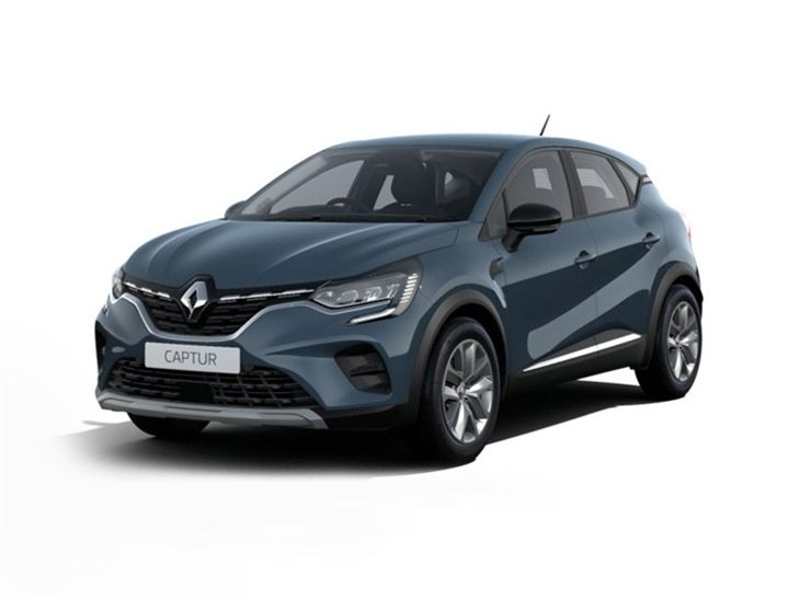 blue renault captur play car lease on white background