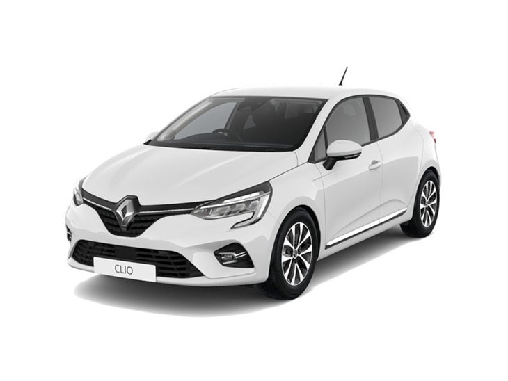 white renault clio iconic car lease on white background