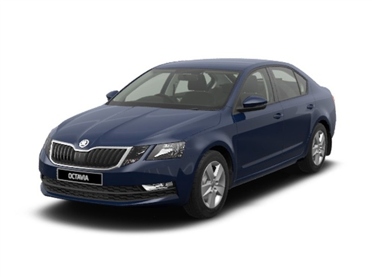 Skoda Octavia SE Dark Blue Front Left View