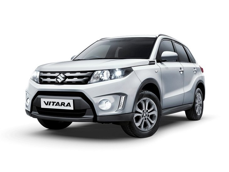 white suzuki vitara sz 4 car lease on white background