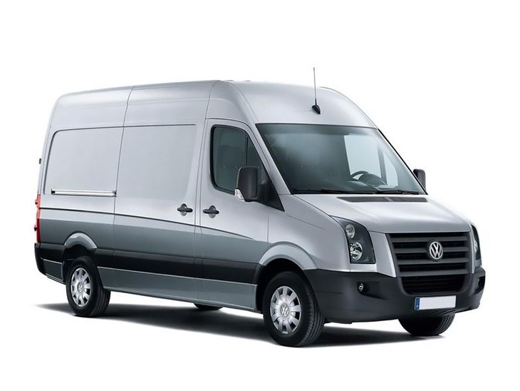 VW crafter van silver front
