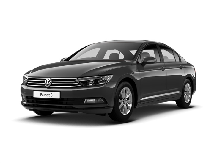 grey volkswagen passat s car lease on white background