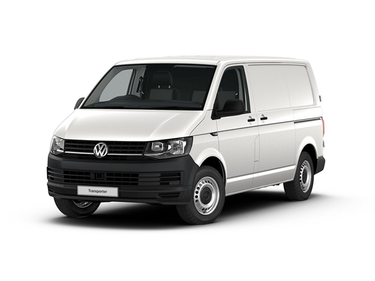 white volkswagen transporter startline van lease on white background