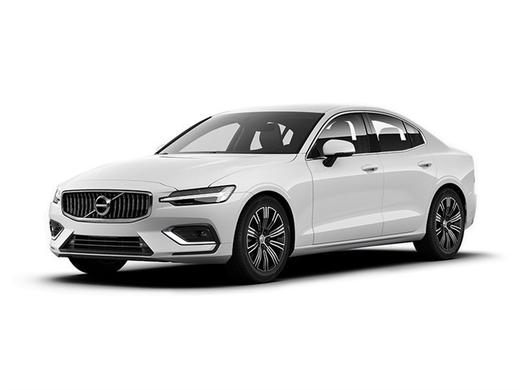 white volvo s60 inscription car lease on white background