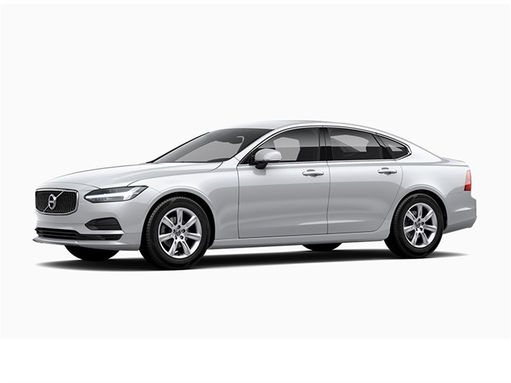 white volvo s90 momentum car lease on white background