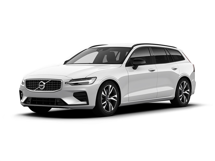 Volvo V60 R Design in White Front Left View