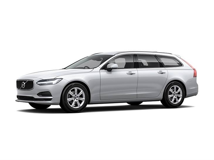 white volvo v90 momentum car lease on white background