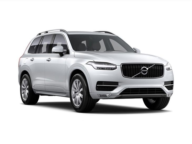 white volvo xc90 momentum car lease on white background