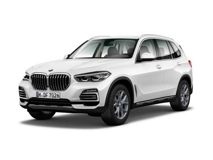 white bme x5 x line 2019 on white background available to lease