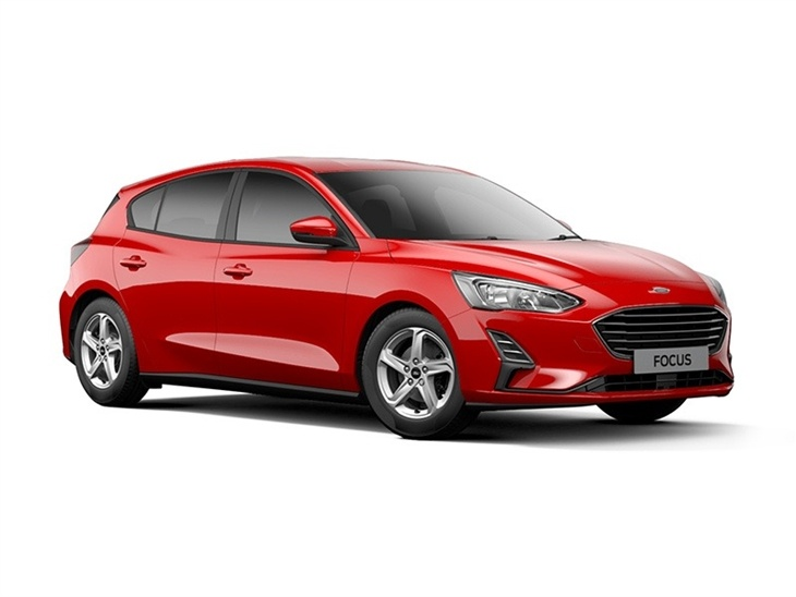 red ford focus style car on white background available to lease