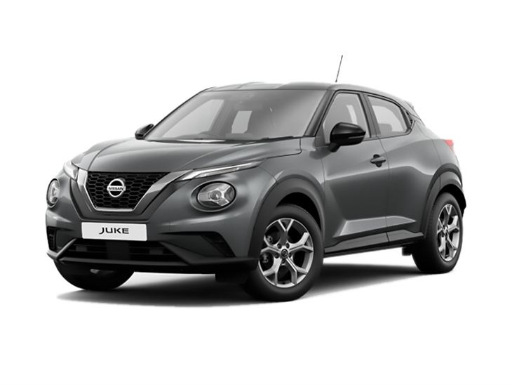 grey nissan juke acenta car lease on white background