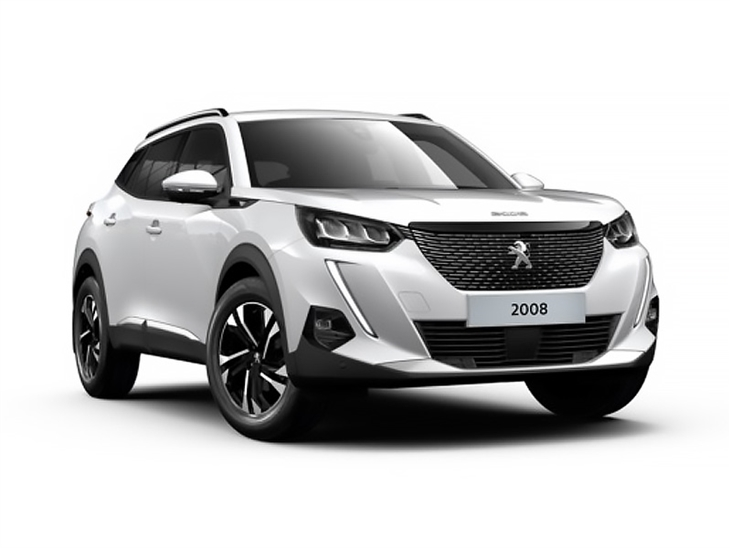 white peugeot 2008 allure car lease on white background