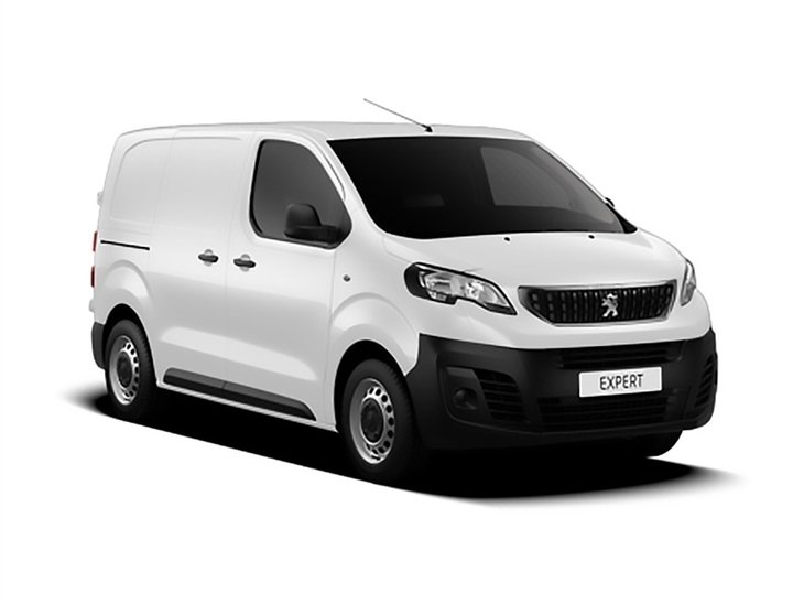 white peugeot expert van s van lease on white background