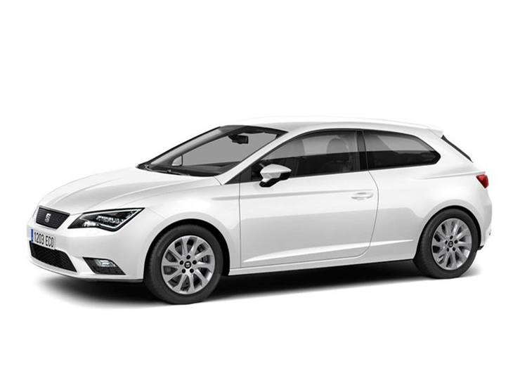 Seat Leon Sport Coupe White Front