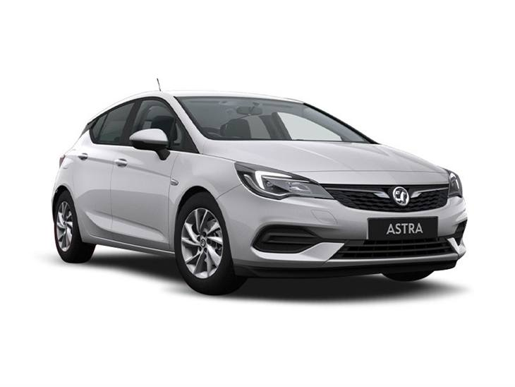 silver vauxhall astra se car lease on white background