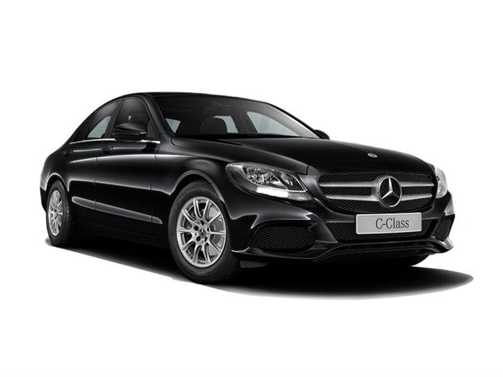 The Front of a Mercedes-benz C-Class Saloon SE in Black
