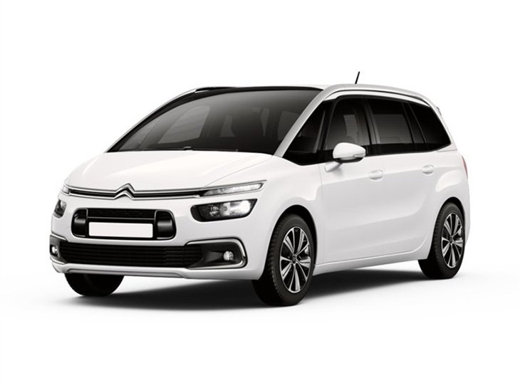 white citroen gran space tourer feel 2 car on white background available to lease