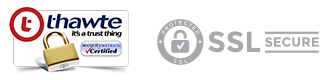 Website secured and SSL protected by Thawte
